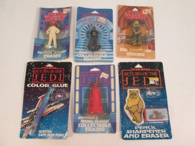 Return of the Jedi character erasers
