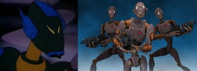 Koong Security Droid and BX Commando Battle Droids