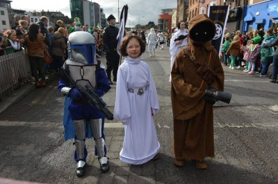 Star Wars Galactic Academy in the St. Partick's Day parade in Ireland