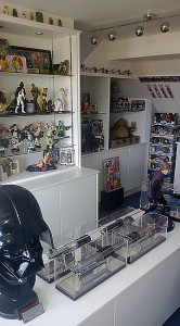 Massive Star Wars collection on Collectaholics, on display in The X-Wing