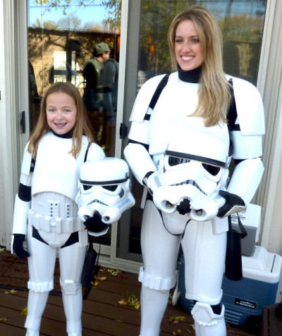 Katie Goldman with 501st member and Stormtrooper Adriane Bean