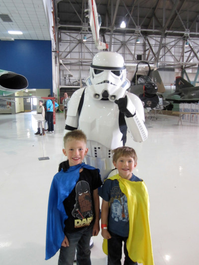 Star Wars fans at Wings Over the Rockies Museum