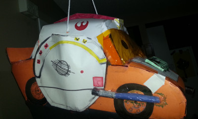 Lightning McQueen/Luke Skywalker piñata