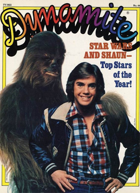 Dynamite magazine with Chewbacca and Shaun Cassidy
