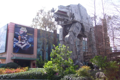 Star Tours at Walt Disney World with an AT-AT walker