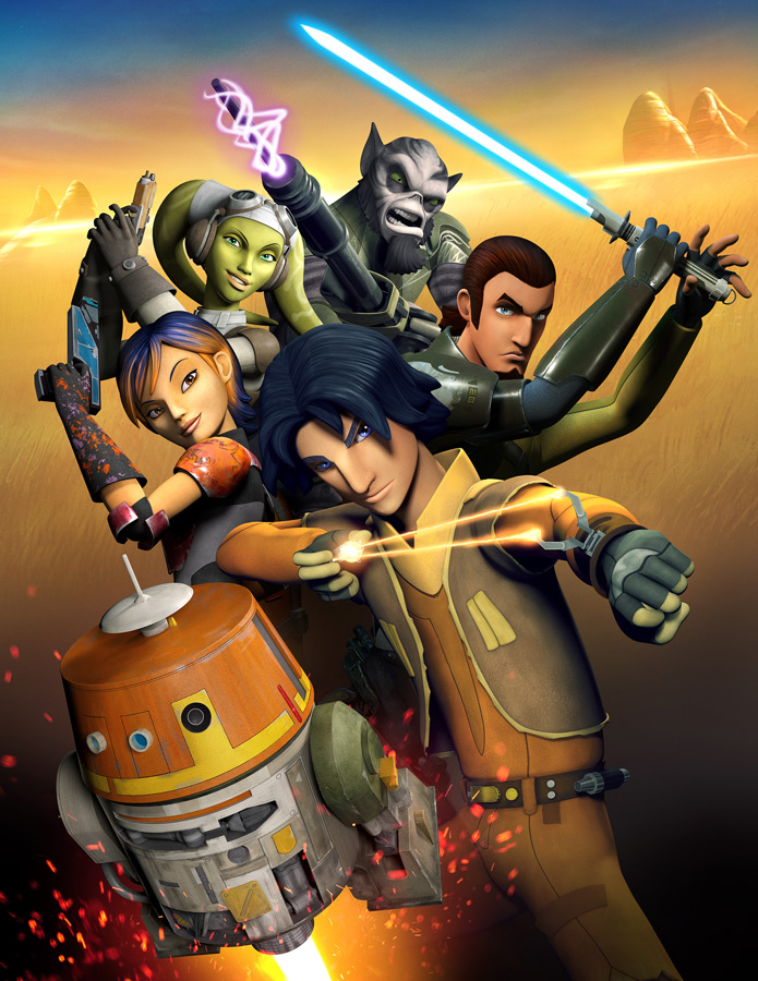 Star Wars Rebels - the crew of the Ghost