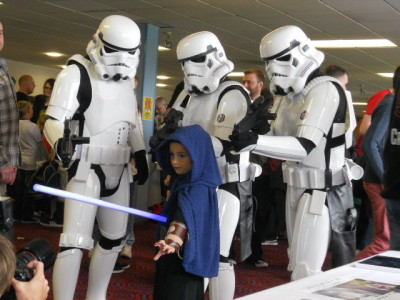 Star Wars fans at Burnley convention