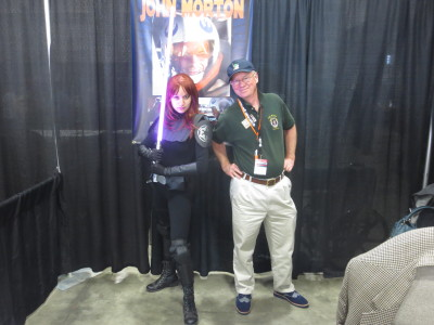 LaVorgna as Mara Jade with Dak at Awesome Con