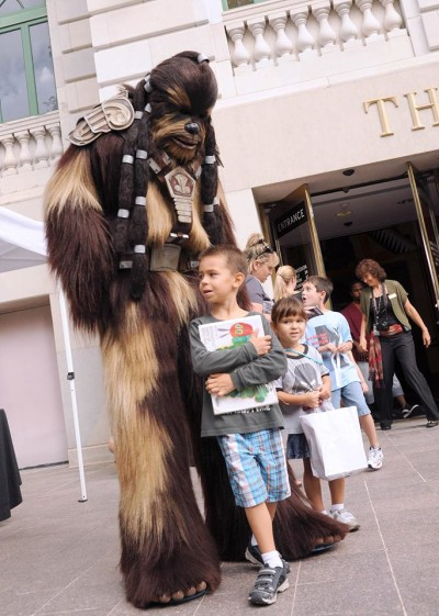 A completed Wookiee costume