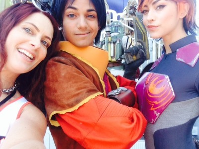 #Selfie with Ezra and Sabine from Star Wars Rebels!