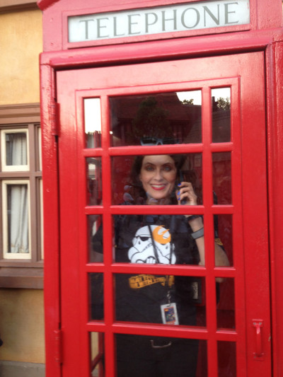 Eventually I waltzed over to Epcot!  Made a quick call in UK!