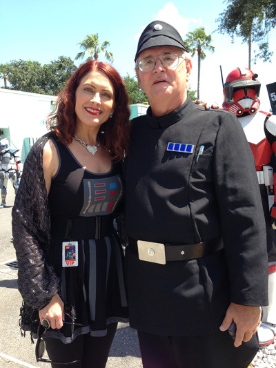 I decided to wear my Darth Vader Her Universe dress, so I could be a Rebel spy!