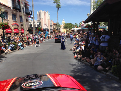 This was my view from the car as the parade started.  Hearing the Star Wars Soundtrack as the gates opened, I completely lost it.