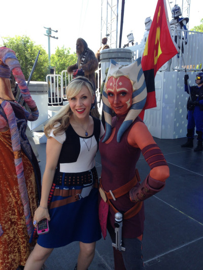 This was a surreal moment once we got on stage! #TeamAhsoka!!