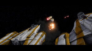 Y-wing bombers in Star Wars: The Clone Wars