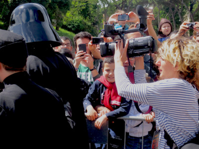 You don't know the power. The Dark Lord of the Sith works the crowd and the media.