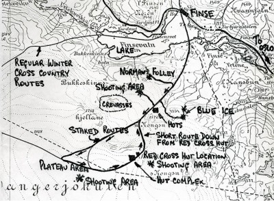 Original production map showing the main shooting locations