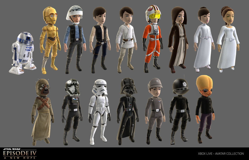 Star Wars Xbob Live Avatars