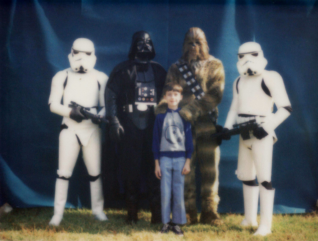 Age 11, in 1979 at a school fair. The Imperials were evidently not Cowboys fans.