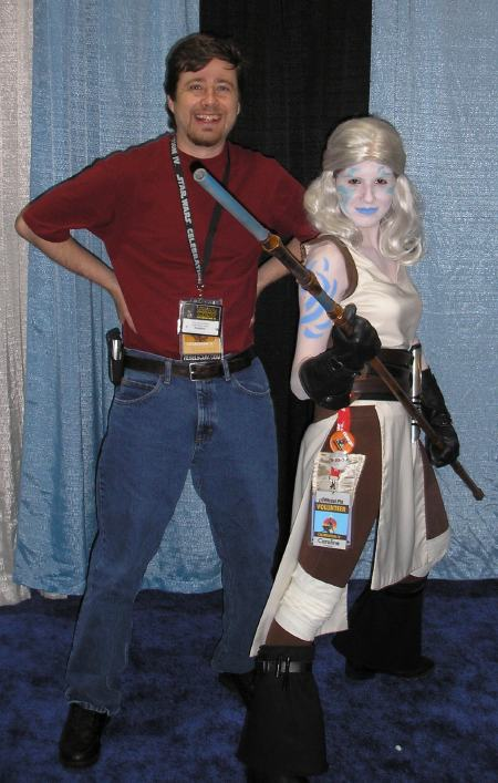 I met Caroline, the first costumer I'd seen who was inspired by a character I'd created, at Star Wars Celebration IV.