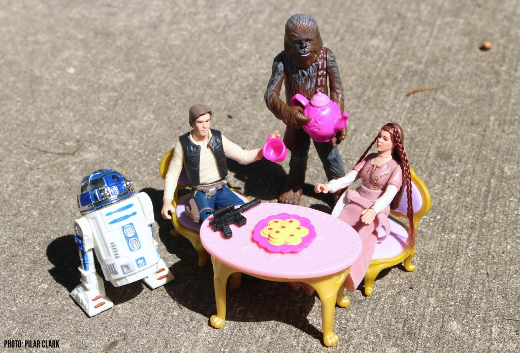 Star Wars toy tea party