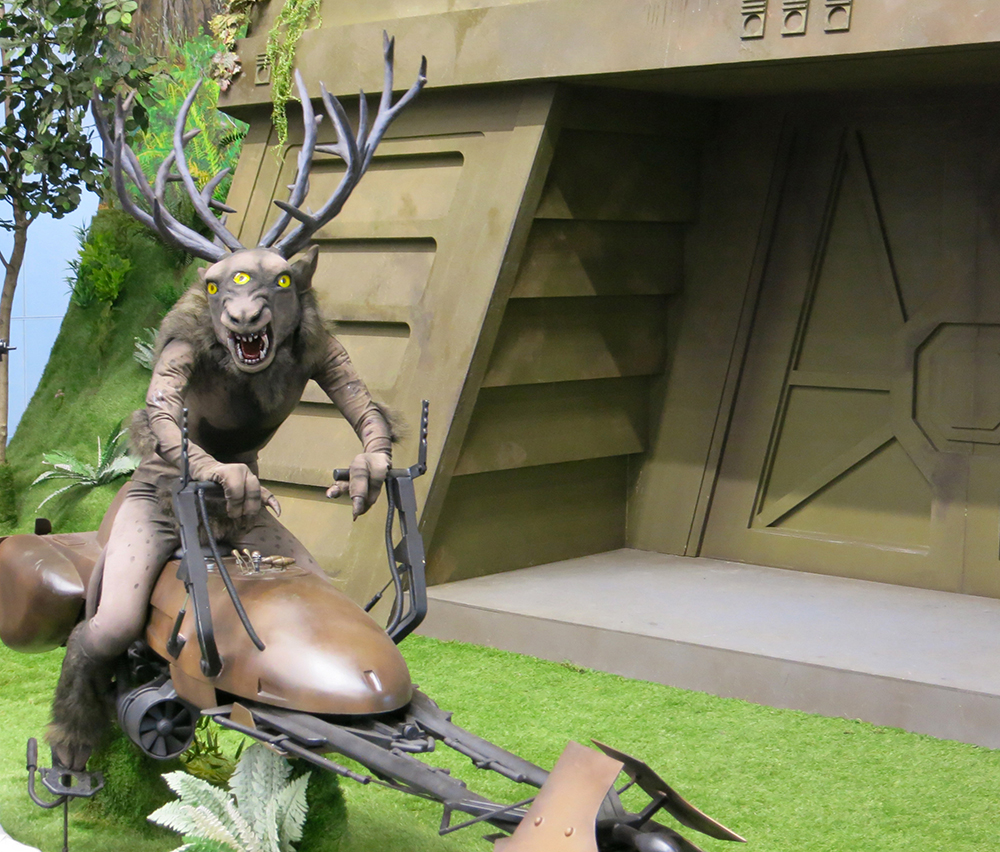 Like something from a nightmare, this costume kept me mesmerized whenever it was near. I think the creature could be at home in an alternate Endor universe.
