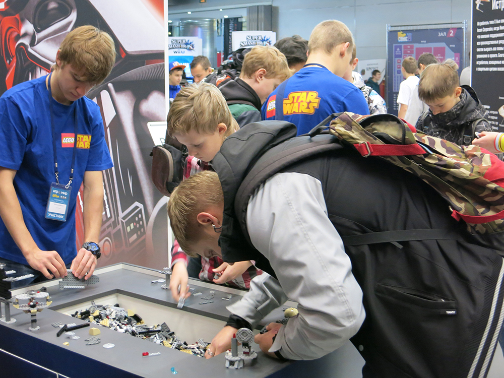 We could have had three times as many LEGO building tables had we the space. They were always busy with builders, and the competitions hosted by the staff were a hit.