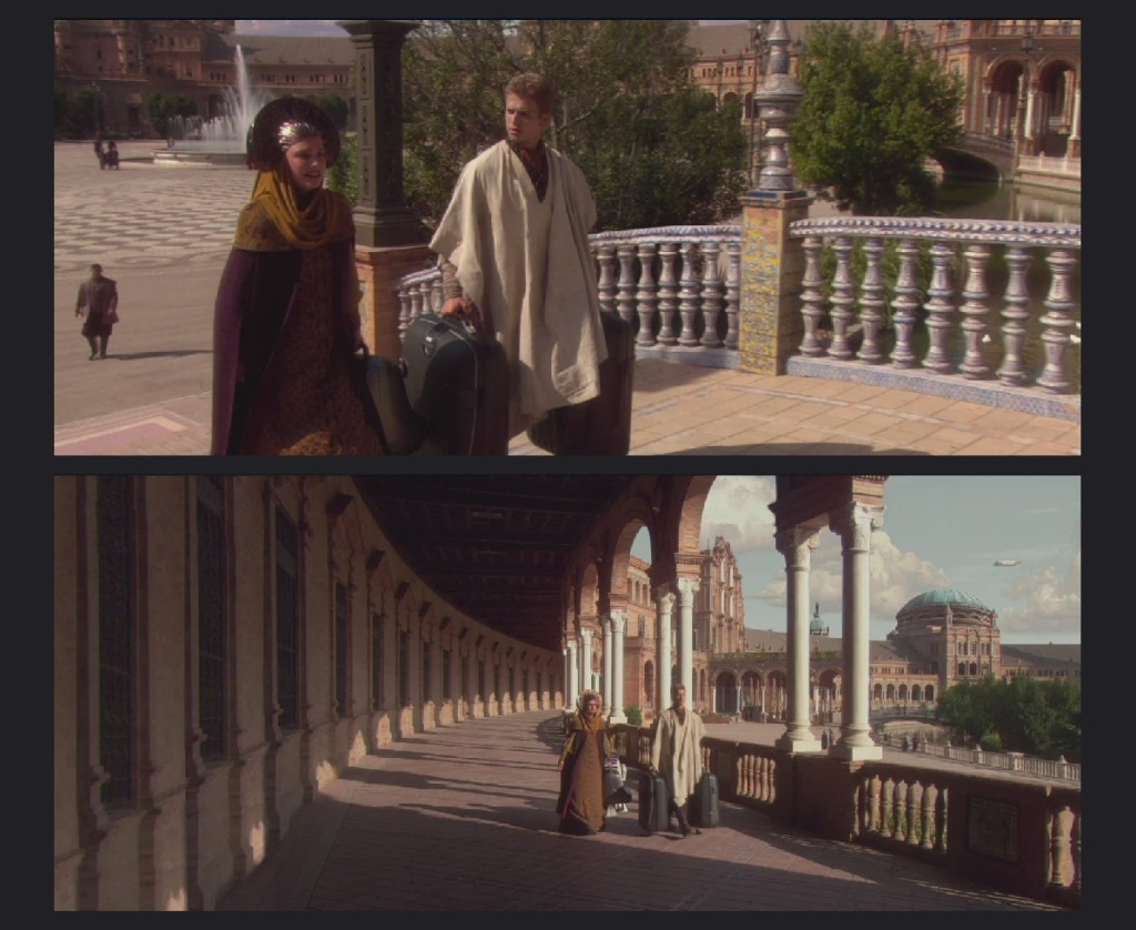 Anakin, Padme & R2 in Spain