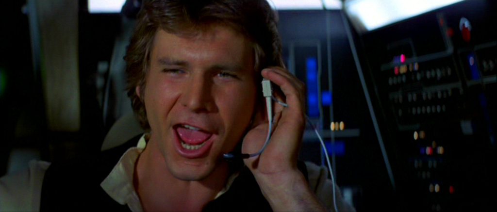 Han Solo saves Luke in A New Hope