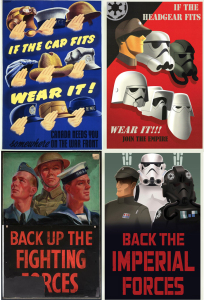 WWII Propaganda art inspires art for Star Wars. Star Wars posters by Amy Beth Christenson.
