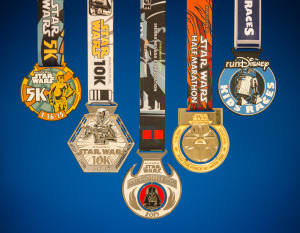 The Star Wars Half Marathon Weekend medals
