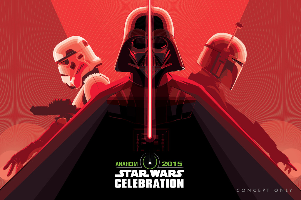 Star Wars Celebration poster by Craig Drake - Vader