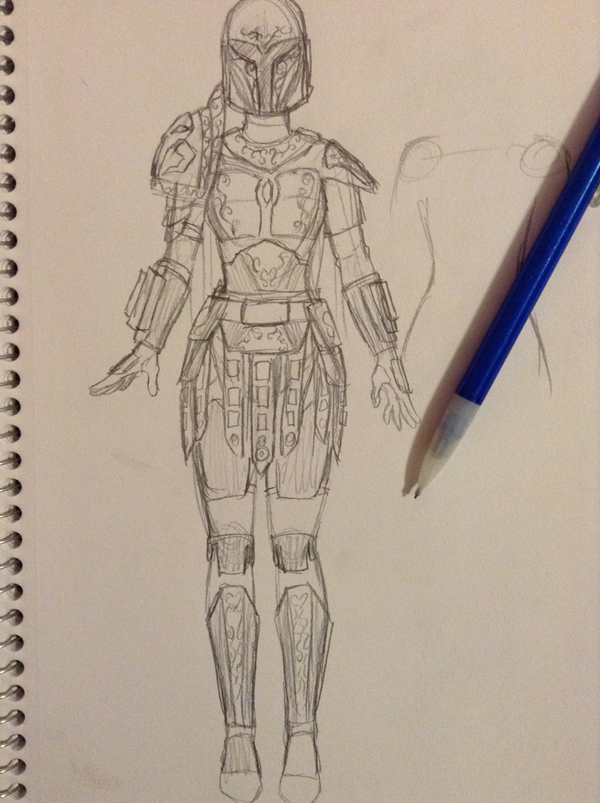 Every great set of armor starts with a concept for inspiration.