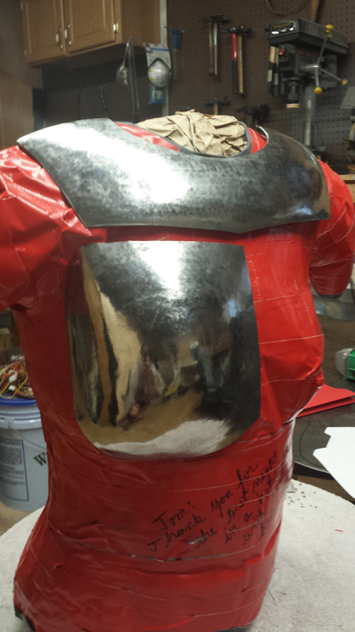 It takes several hours of hammering to form the complex curves required for proper fitting armor.