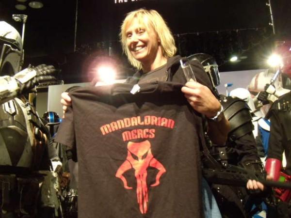 Mary Franklin inducted as an Honorary Member of MMCC at San Diego Comic Con in 2009.