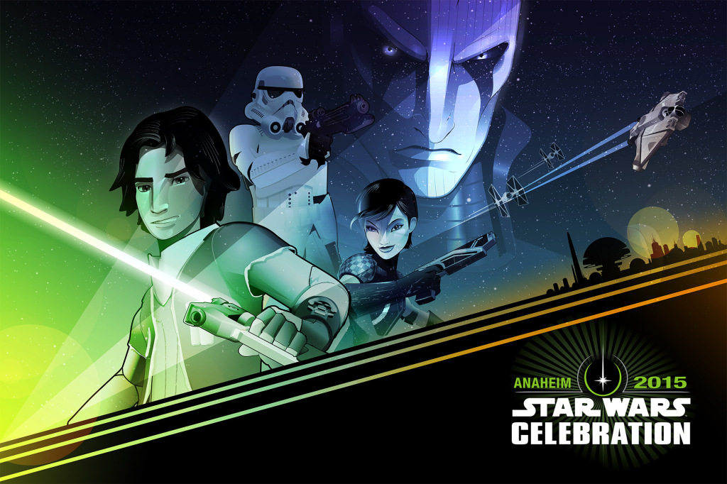 Craig Drake Star Wars Celebration poster - Rebels version