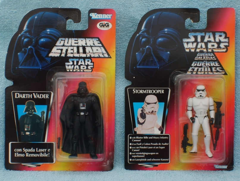 Hasbro action figures - Darth Vader and stormtrooper