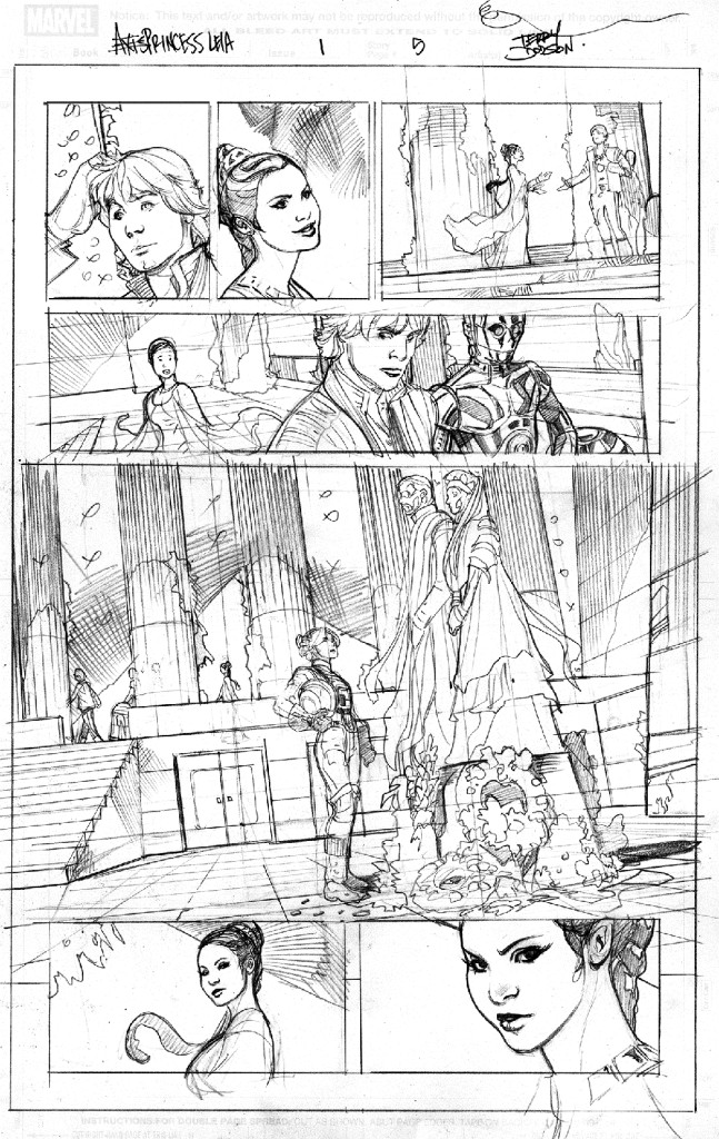 Princess Leia #1 pencilled pages