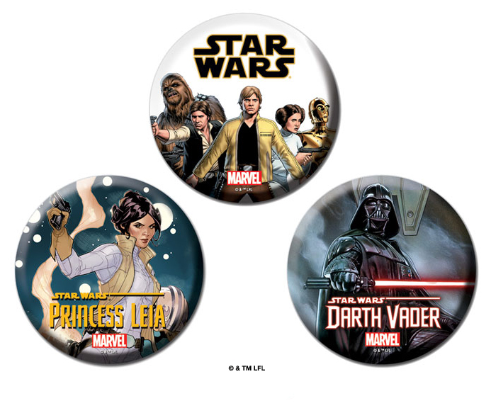Marvel pins for Star Wars Celebration