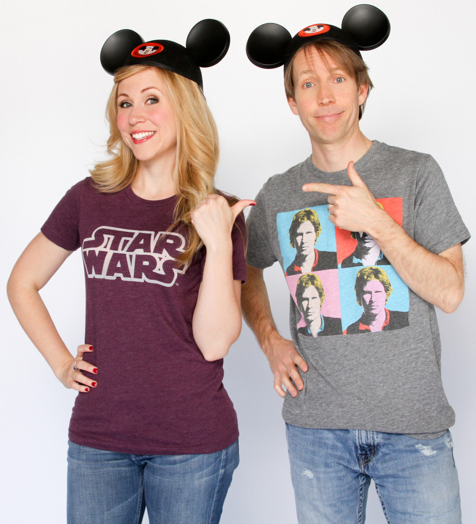 Ashley Eckstein and James Arnold Taylor at Star Wars Weekends
