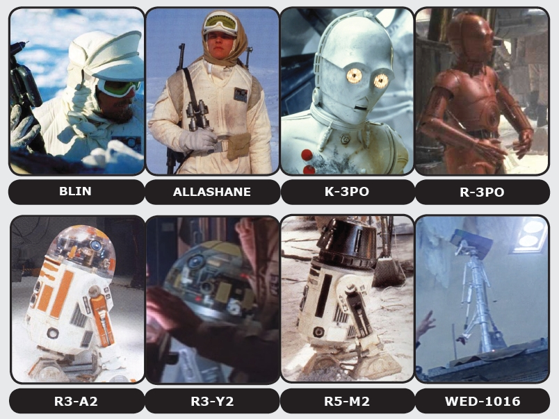 Troopers and droids at Echo Base