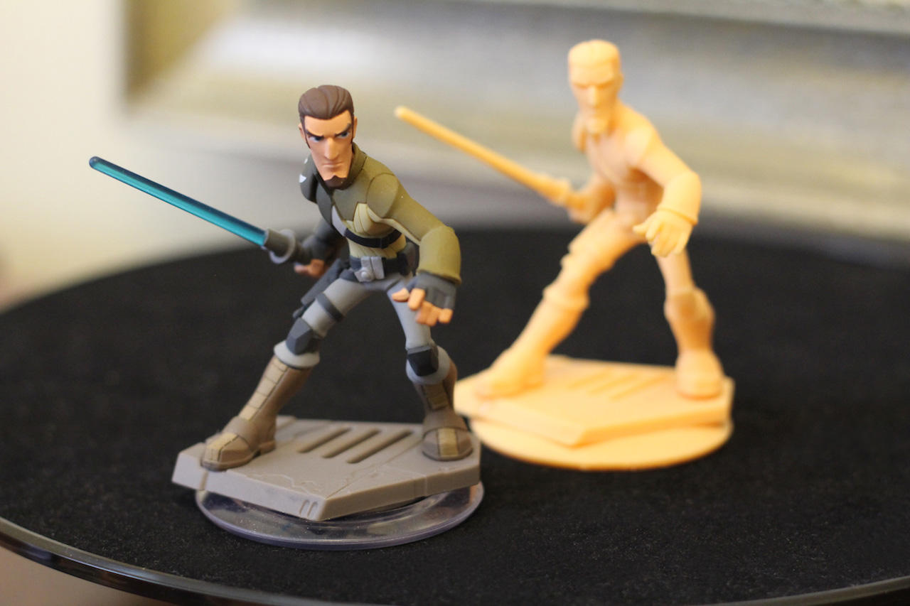 Disney Infinity Kanan with 3D protoype