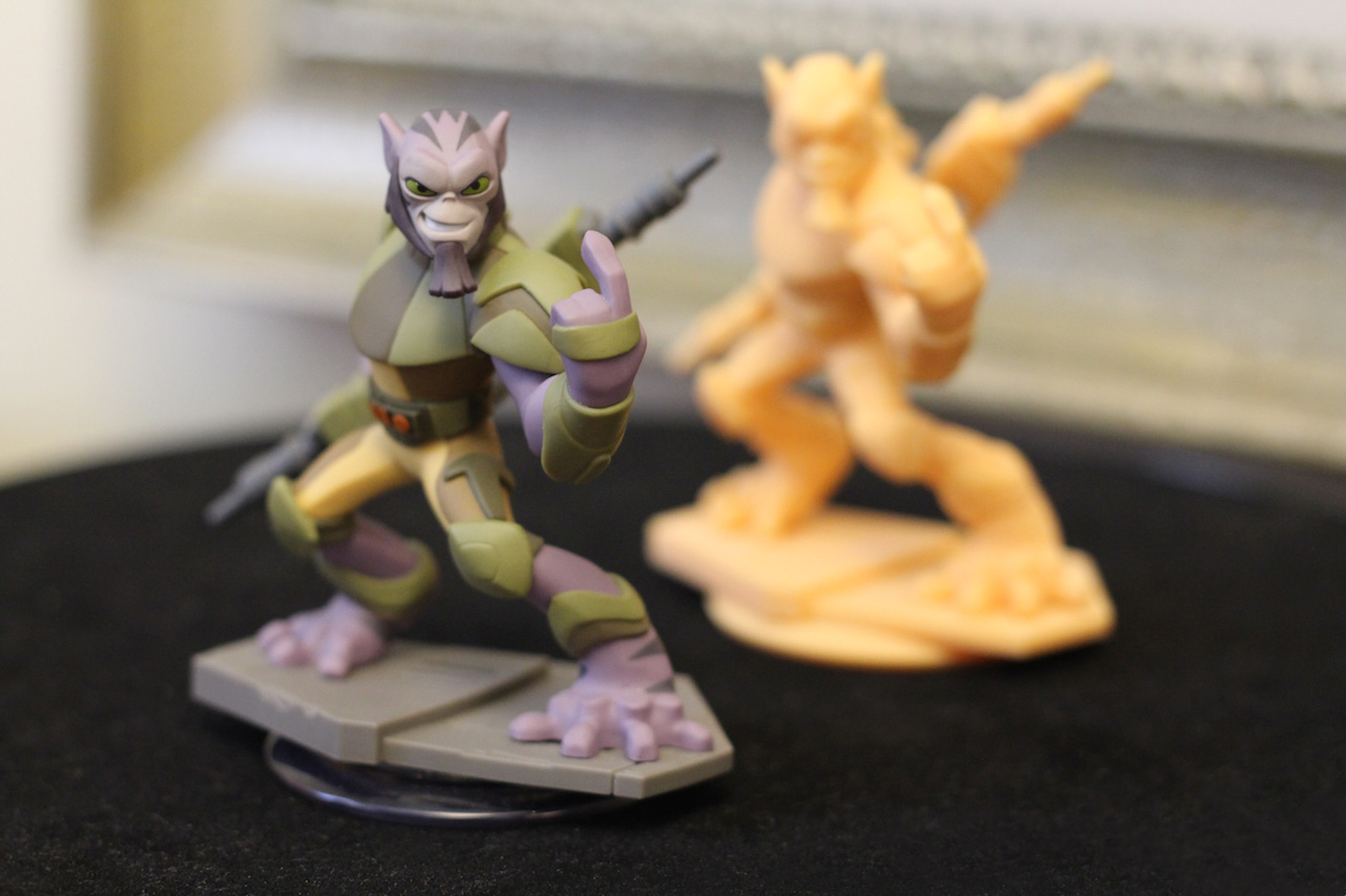 Disney Infinity Zeb with 3D protoype