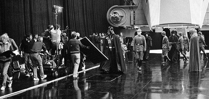 Darth Vader arrives in Return of the Jedi