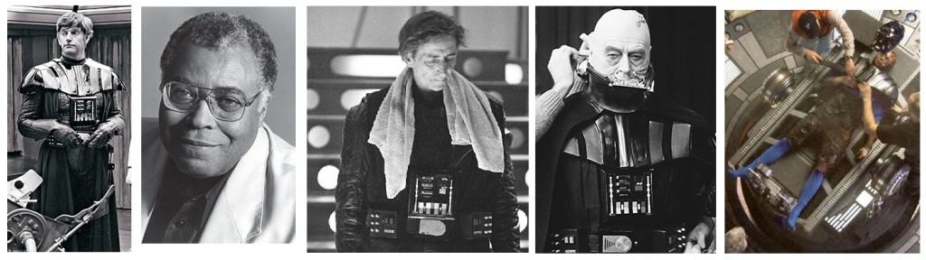 Men behind the masks: David Prowse, James Earl Jones, Bob Anderson, Sebastian Shaw & Hayden Christensen