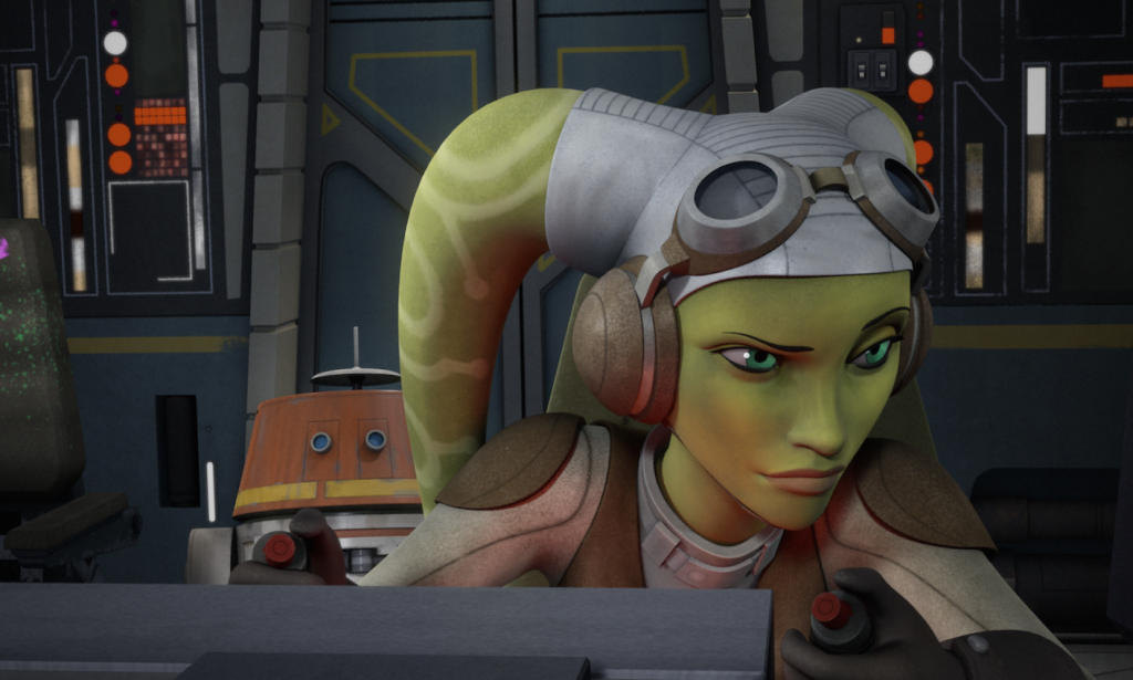 "Chopper and Hera in Star Wars Rebels ""The Siege of Lothal"""