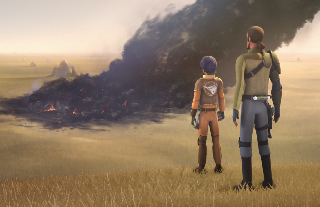 "Kanan and Ezra in Star Wars Rebels ""The Siege of Lothal"""