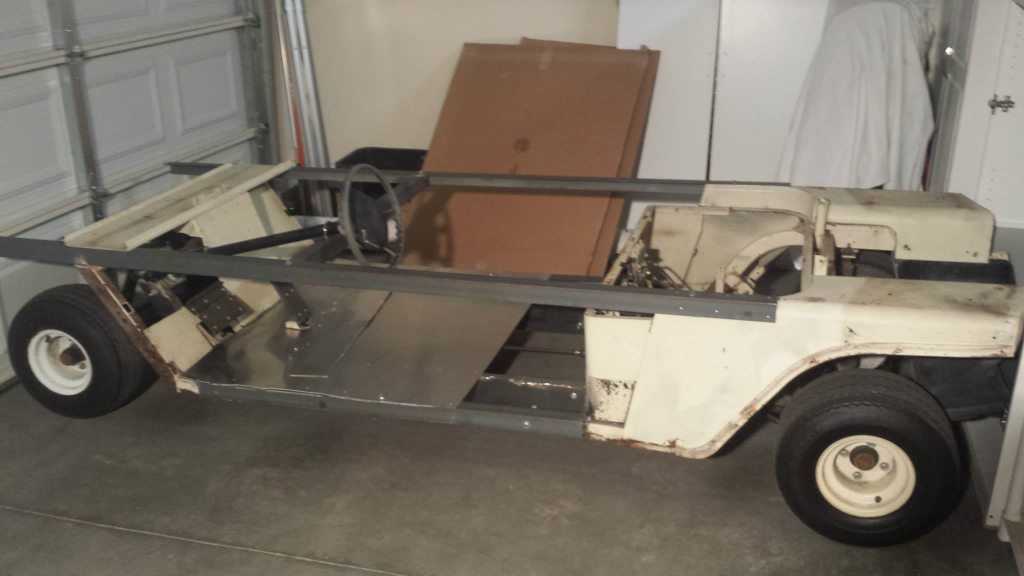 Star Wars speeder project - golf cart