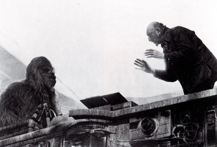 Peter Mayhew as Chewbacca with Irvin Kershner
