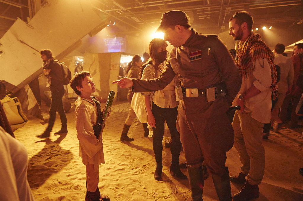 Star Wars fans and actors dressed as characters
